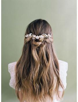 Wedding Hair Vine, Bridal Hair Vine, Gold Hair Vine, Bridal Headpiece, Wedding Headpiece, Gold Bridal Comb, Gold Flower Vine by Etsy