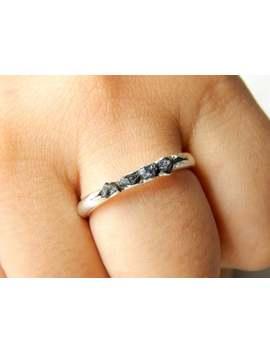 Black Diamond Raw Ring 92.5 Sterling Silver Diamond Rough Ring, Black Diamond Ring Band 100 Percent Natural Gemstone by Etsy