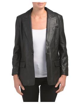 Oversized Boyfriend Leather Blazer by Tj Maxx