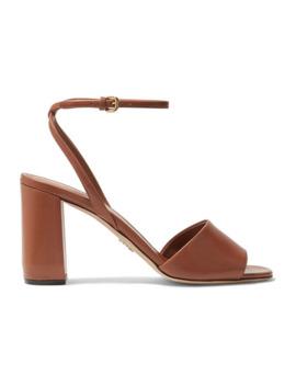 85 Sandalen Aus Leder by Prada