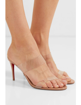 Just Nothing 85 Mules Aus Pvc Und Lackleder by Christian Louboutin
