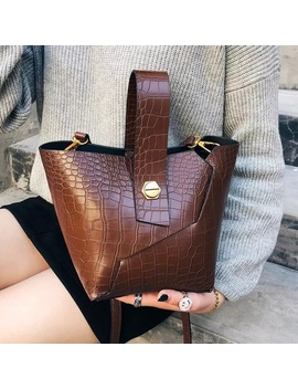 🔄🆕 Cairo Crocodile Bucket Bag SetBoutique by Lush Style Finds