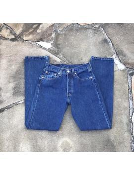 501 Usa W25.5 L30.5 Vintage Slim High Waist Levis Rare 501 For Women Usa Dark Wash by Etsy