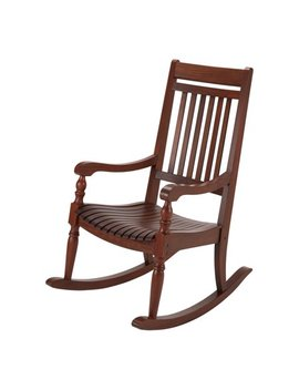 Better Homes & Gardens Ridgely Slat Back Mahogany Rocking Chair, Brown by Better Homes & Gardens