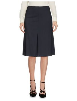 Knee Length Skirt by Jil Sander Navy