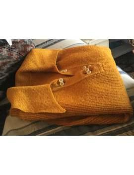 Vintage Women's S Burnt Orange Yellow Orange Ribbed Knit 70's Sweater by Etsy
