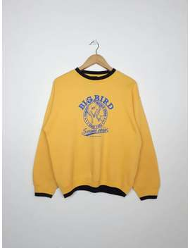Vintage Sesame Street Big Bird Yellow Sweatshirt / Vintage Sweatshirt / Cartoon Sweatshirt by Etsy