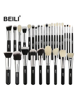 Beili Black Complete Professional Makeup Brushes Set Natural Goat Hair Foundation Powder Concealer Contour Eyes Blending 30pcs by Ali Express.Com