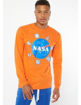 Orange It's Lonely At The Top Nasa Graphic Tee by Rue21