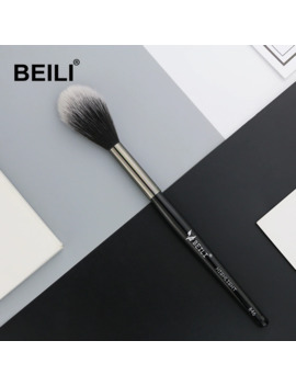 Beili 1 Piece Synthetic Hair Highlight Blusher Makeup Brush Long Handle Single Makeup Brush 846# by Ali Express.Com