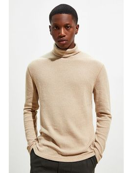 Uo Joseph Waffle Turtleneck Long Sleeve Tee by Urban Outfitters