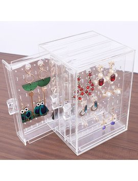 Transparent Jewelry Plastic Necklace Bracelet Rack Earrings Hanger Nail Art Display Stand Jewelry Organizer Storage Box Rack by Ali Express.Com