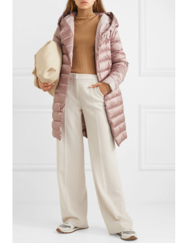 The Cube Hooded Belted Quilted Shell Down Coat by Max Mara