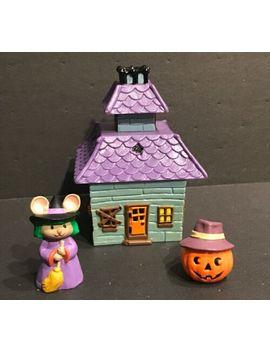 Hallmark Merry Miniatures Figurine Halloween Haunted House Mouse Witch Pumpkin by Ebay Seller