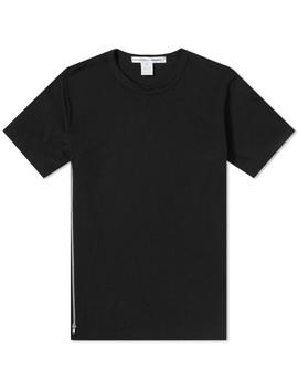 Comme Des Garcons Shirt Side Zip Tee by Comme Des Garçons Shirt