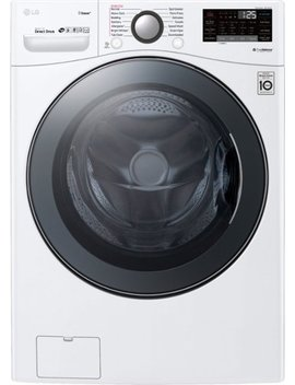 4.5 Cu. Ft. 14 Cycle Front Loading Washer With Steam   White by Lg