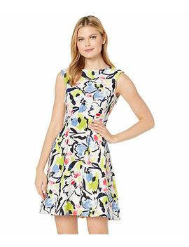Cap Sleeve Floral Print Dress by Taylor