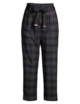 Plaid Flannel Pants by Peserico