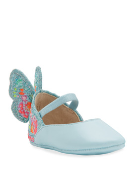 Chiara Embroidered Butterfly Wing Flats, Baby by Sophia Webster