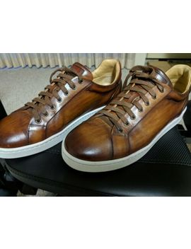 Magnanni Elonso Lo Cognac 10.5 M Leather Lace Up Italian Sneakers Shoes by Magnanni