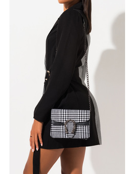 Greatest Hits Houndstooth Purse by Akira