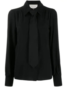Neck Tie Blouse by Gucci