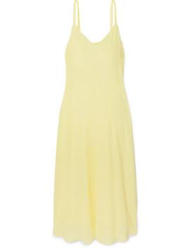Crepe De Chine Midi Dress by Vince