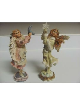 Boyd's Bears & Friends Folkstone Collection Snow Angel & Silvery Moon Angel by Ebay Seller