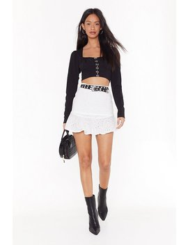 Broderie Awesome Rufle Mini Skirt by Nasty Gal