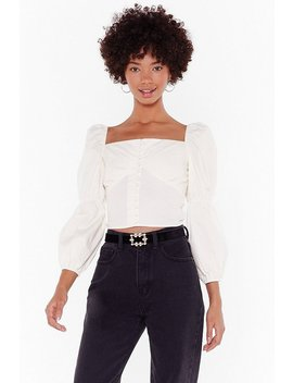 Sweetheart Button Detail Blouse by Nasty Gal