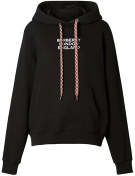 Embroidered Logo Cotton Oversized Hoodie by Burberry