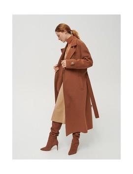 Wełniany Płaszcz Z Paskiem by Reserved