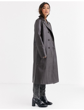 Asos Design   Trench Coccodrillo Marrone Scuro by Asos Design
