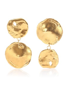 Il Fuoco 24kt Gold Plated Earrings by Alighieri