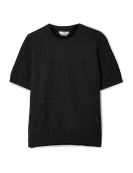 Pointelle Knit Cotton Blend Top by Fendi