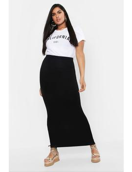 Plus Jersey Maxi Tube Skirt by Boohoo