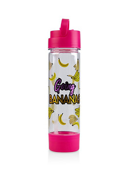 Going Bananas Flip Straw Water Bottle by Rainbow