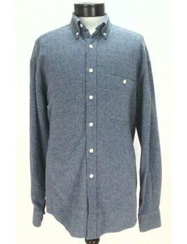 Ermenegildo Zegna Denim Blue Color Flannel Shirt Mens M Made Italy Euc $375 by Ermenegildo Zegna