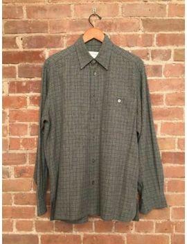 Vintage Ermenegildo Zegna Men's Shirt Sz Medium 100% Cotton Flannel Italy by Ermenegildo Zegna