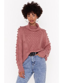 Have Knit Your Way Cable Neck Turtleneck Sweater by Nasty Gal