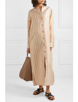 Striped Twill Maxi Dress by Jil Sander