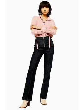 Ausgestellte Jeans Mit Unversäubertem Reißverschluss by Topshop