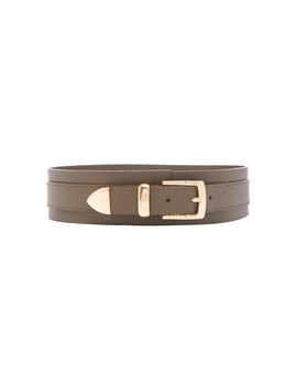 Wide Leather Waist Belt by Brandon Maxwell