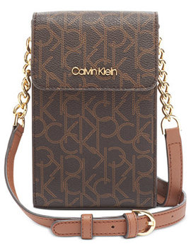 Signature North South Leather Crossbody by General