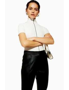 Faux Leather Skinny Pants by Topshop