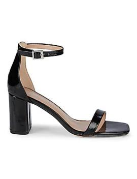 Metallic Leather Flat Sandals by Valentino Garavani