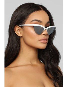 Vividly Sunglasses   White by Fashion Nova