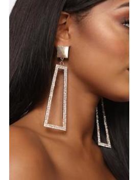 Not Easily Amused Earrings   Gold by Fashion Nova