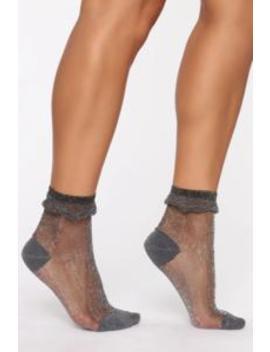 A Lil Extra Socks   Black by Fashion Nova