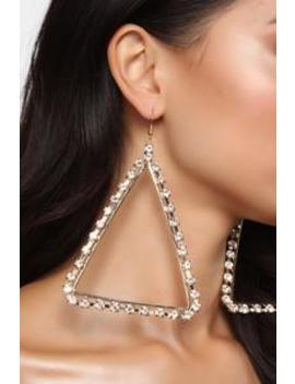 Try This Angle Earrings   Gold by Fashion Nova